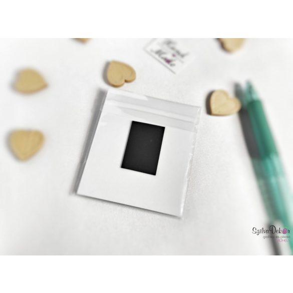 Macska holdon fém medál mágneses ajándékkártyával