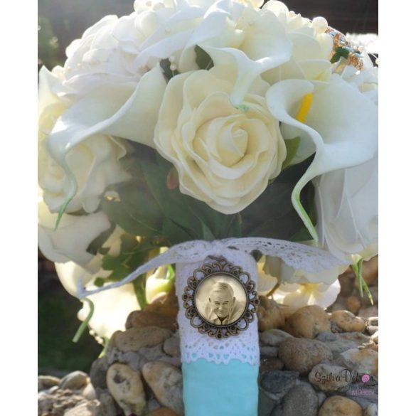 Menyasszonyi csokor medál
