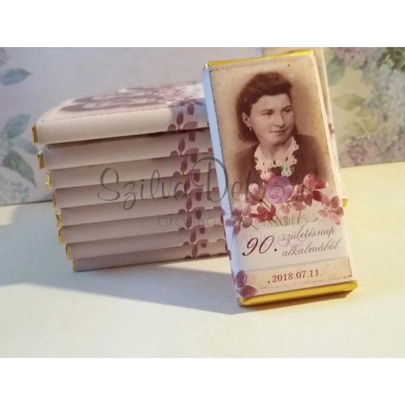 Nosztalgia feliratos csoki dekoráció