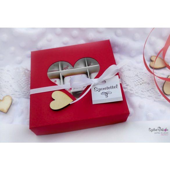 Ovicsoki 9 darabos szívablakos dobozban