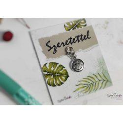 Smiley fém medál mágneses ajándékkártyával
