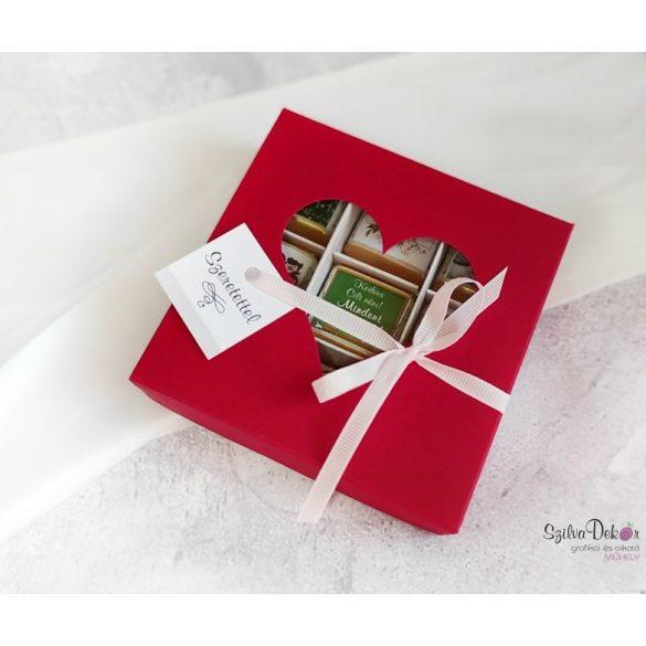 Tanárcsoki 9 darabos szívablakos dobozban