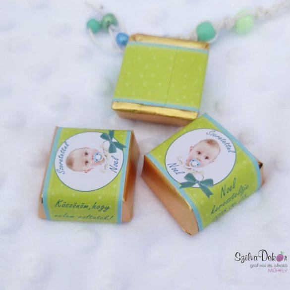 Körös kockacsoki- keresztelői, szülinapi dekoráció