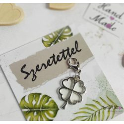Lóhere fém medál mágneses ajándékkártyával