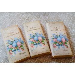 Húsvéti kistáblás feliratos csoki dekoráció