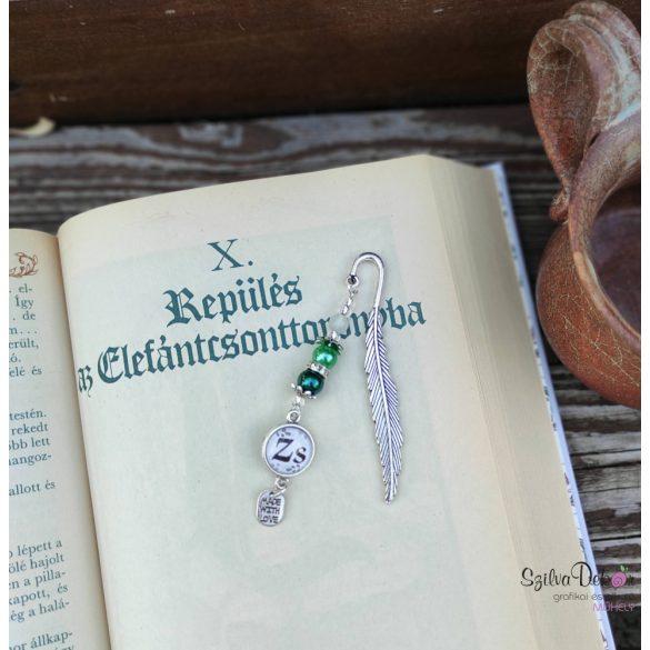Madártollas KönyvÉkszer- zöld