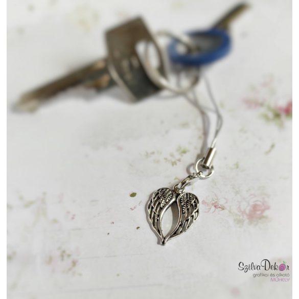 HÁLA- Idézetes könyvjelző + fém angyalszárny medál
