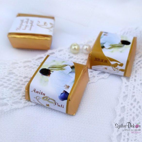 Sziluett kockacsoki- esküvői dekoráció