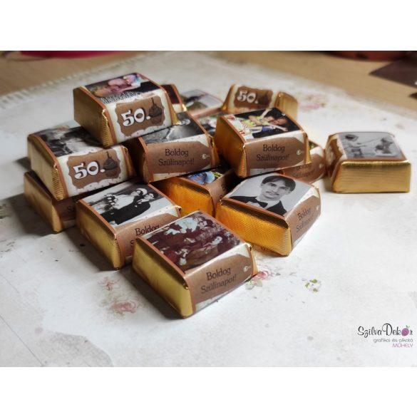 12 darabos fényképes csoki ablakos dobozban