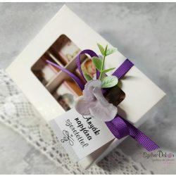 Anyák napi 6 darabos fényképes csoki ablakos dobozban