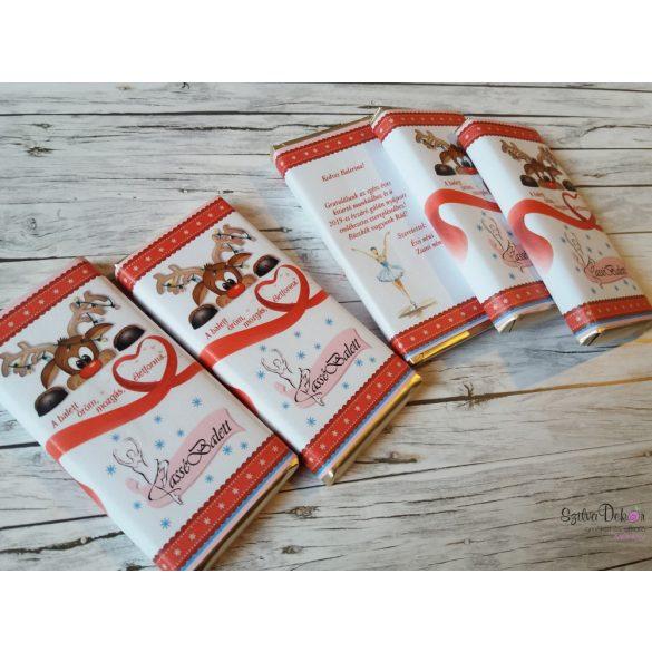 SAJÁT MINTÁVAL kistáblás csoki dekoráció céges ajándéknak