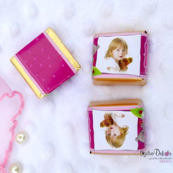 Macis kockacsoki- keresztelői, szülinapi dekoráció