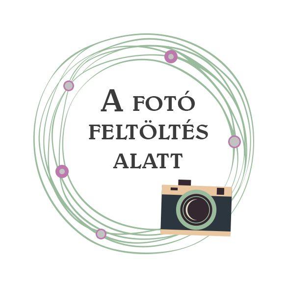 Üveglencsés kulcstartó MAMÁNAK, PAPÁNAK rajzolt figurákkal