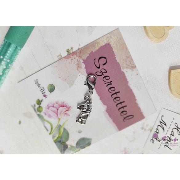 Maci fém medál mágneses ajándékkártyával