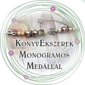 KönyvÉkszerek monogramos medállal