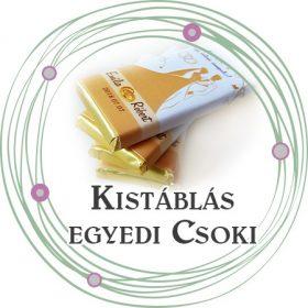 Kistáblás egyedi papíros csoki dekoráció